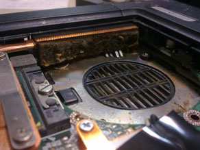Dust in laptop